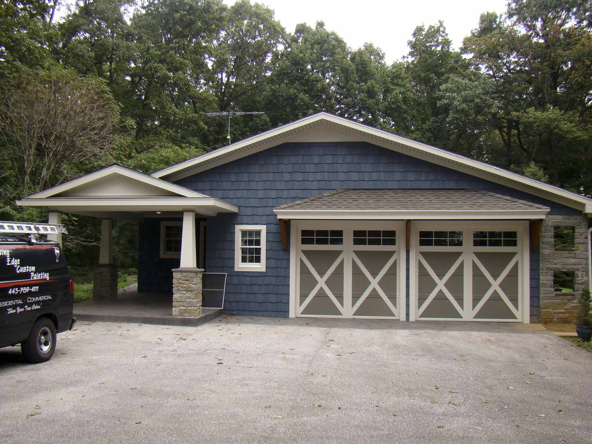 Custom Garage Door Columns Cutting Edge Custom Painting